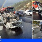 Lo rescatan tras volcar con su vehículo en la TF-1, Boca Cangrejo, El Rosario