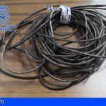 Un detenido en Santa Cruz por el robo de 40 metros de cable de cobre en el barrio de Salamanca