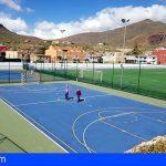 San Miguel mejora la imagen y aumenta el equipamiento del polideportivo de Aldea Blanca