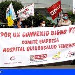 El Comité de empresa del Hospital Quirónsalud Tenerife continúa con las movilizaciones