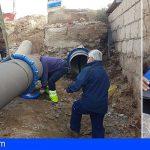 Arico | Balten concluye la reparación de la tubería de agua regenerada que rompió una excavadora