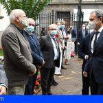 Rodríguez Zapatero es recibido en el Parlamento de Canarias