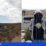 Alrededor de 190 inmigrantes sobreviven entre Playa Las Burras y El Fraile