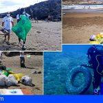 El litoral de Arico tiene unos 200 kilos menos de residuos y basura