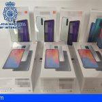 Detenida una pareja en La Laguna por hurtar teléfonos móviles valorados en más de 4.000€