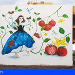 """San Miguel   """"Mujer y tradición"""", pintura mural a gran formato con motivo del 8 de marzo"""
