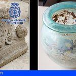 Recuperan dos piezas arqueológicas romanas expoliadas en Granada