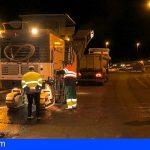 Arriaga visita la obra de mejora de los carriles en la TF-1 a la altura de Candelaria