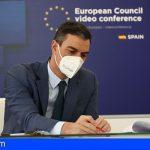 Sánchez pide adoptar cuanto antes el Certificado Verde Digital, instrumento para la movilidad dentro de la UE