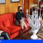 Granadilla recibió a Soraya Rodríguez, aspirante a guardiana del centro hasta el Carnaval de Santa Cruz de Tenerife 2022