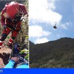Rescatan a un hombre herido en el Monte del Agua de Los Silos