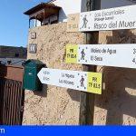Granadilla renueva la señalética de la red municipal de senderos de las medianías