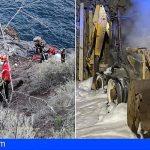 Rescatan a un hombre en Santiago del Teide tras caerse en una zona rocosa de costa