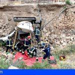 Vilaflor | Un hombre en estado grave tras volcar con su tractor en Camino El Bucio