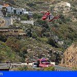 Rescatan en Arico a un escalador que cayó en el Barranco Polegre