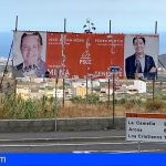 CC-PNC de Arona exige al PSOE la retirada de la valla electoral que sigue en la rotonda de la Cruz del Guanche