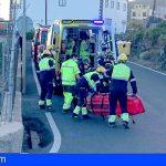 Un motorista grave y dos heridos en 3 accidentes en el sur de Tenerife; Arona, Vilaflor y Guía de Isora