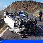 Arona | Dos heridos, uno de ellos un menor, tras el vuelco de un vehículo en la TF-657