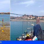 Arona renueva el sistema de balizamiento en la zona de los espigones de la playa de Las Vistas