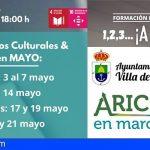 Arico propone cinco actividades formativas para este mes de mayo