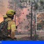 Arico | «El incendio continúa activo y sin estar controlado, pero su evolución es favorable para las tareas de extinción»