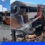 San Miguel | Extinguen incendio en los exteriores de una nave utilizada como taller en Las Zocas