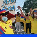 Colombia también se hace sentir en Adeje, Arona y Santa Cruz, tras ocho días de protestas consecutivas