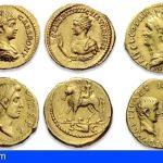 Recuperan en Barcelona tres monedas áureos del Imperio Romano de gran valor histórico y económico