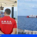 El puerto de Los Cristianos, convertido en escenario de un simulacro de contaminación marítima