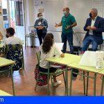 """El alcalde de San Miguel visitó al alumnado del CEIP Aldea Blanca en el marco de """"Con mi voz mis derechos"""""""