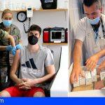 Los rastreadores militares de Canarias alcanzan ya los 8 meses en la lucha contra la pandemia en las islas
