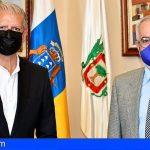 Óscar Izquierdo y el Alcalde de La Orotava analizaron la necesidad de tomar medidas que agilicen las inversiones