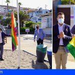 Arona celebra el Orgullo izando la bandera LGTBIQ+ en Las Vistas y con un manifiesto en pro del colectivo