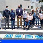 Güímar estrena el primer paso de peatones adaptado de la isla