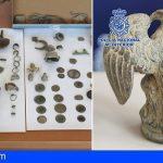 La Policía Nacional recupera diversas piezas arqueológicas procedentes de expolio