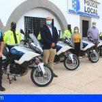 La Policía Local de Granadilla renueva su flota con la adquisición de ocho motocicletas