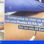Nacional | Denunciado un cartel que cuestiona el trabajo de las enfermeras en la vacunación para vender test de anticuerpos