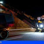 Mañana continúa el reasfaltado de la TF-1 entre el Polígono Industrial de Granadilla y Tajao