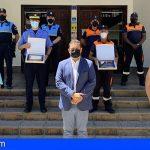 Arona reconoce a los 250 efectivos de la Policía Local y Protección Civil por su labor desde el inicio de la pandemia