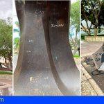 CC-PNC de Arona denuncia los constantes actos vandálicos a la escultura del emigrante en El Fraile