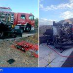 Granadilla | Cuatro heridos tras la colisión de varios vehículos en la TF-64, zona Vista Gorda