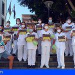 Granadilla | Trabajadores municipales dijeron ¡NO AL ICETAZO! frente al Ayuntamiento
