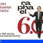 Raphael actuará el 25 de noviembre en el Recinto Ferial de Sta. Cruz de Tenerife y el 26 en Gran Canaria
