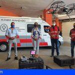 La capital muestra su experiencia en drones a una delegación de Stgo. del Teide