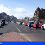 Un spot publicitario no autorizado en el PN de El Teide culmina con dos investigados por conducción temeraria