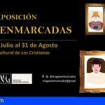 El centro cultural de Los Cristianos acoge la exposición de vestimenta tradicional canaria magas enmarcadas