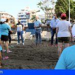 Granadilla inicia la gimnasia en la playa para los mayores del municipio