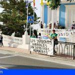 San Miguel | Primer día de huelga de la plantilla de trabajadores del Ayuntamiento