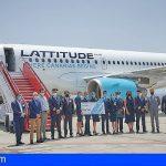 La compañía Canaria Lattitude Hub inicia sus operaciones con su vuelo directo Madrid – Tenerife Sur