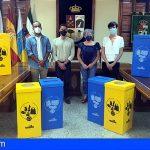 Vilaflor recibe 64 papeleras para la recogida selectiva de residuos